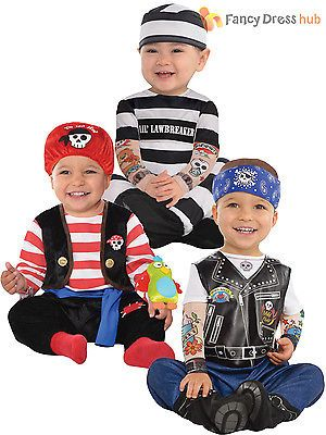 Baby toddler #prisoner costume boy girl biker fancy #dress infant pirate #outfit,  View more on the LINK: http://www.zeppy.io/product/gb/2/201528855567/