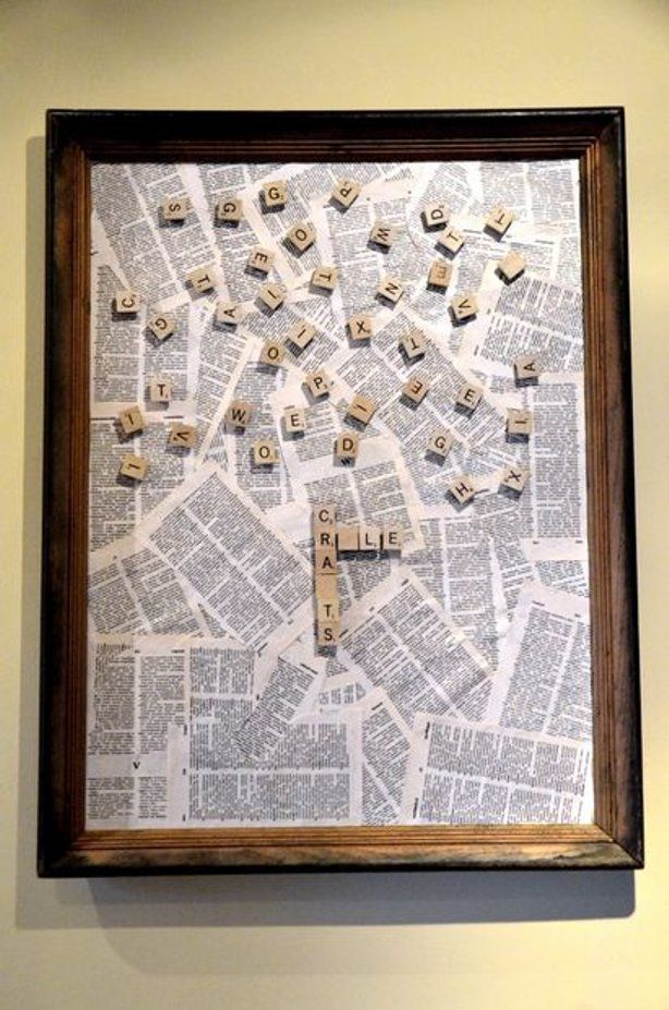 Scrabble Pieces Wall Decor : Ideas about scrabble wall art on