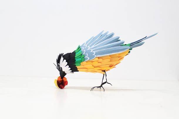 Paper animals by Diana Beltran Herrera: Diana Herrera, Beauty Birds, Paper Birds, Paper Art, Paper Sculpture, Herrera Beltran, Birds Sculpture, Beltran Herrera, Diana Beltran