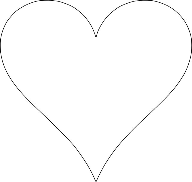 5 Free Heart Shaped Printable Templates for Your Craft Projects: Free Printable Heart Template 1