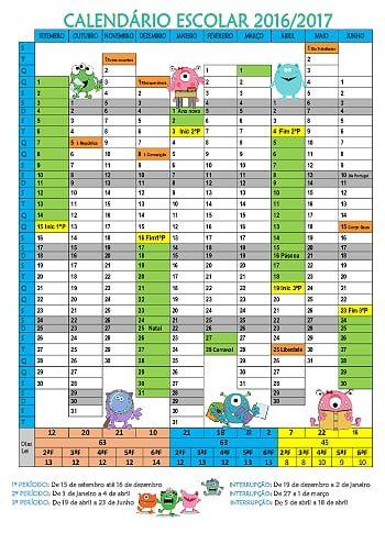 Calendário escolar ano letivo 2016-2017 tema monstrinhos.pdf - OneDrive