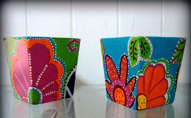 Macetas de fibrocemento pintadas a mano - Macetas - Casa - 496433