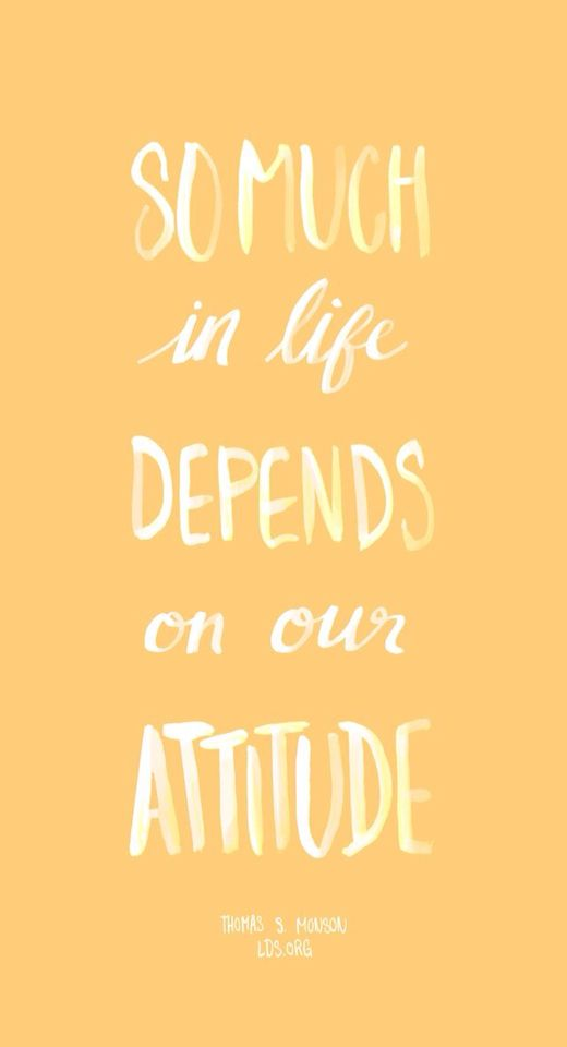 The importance of attitude!