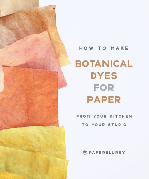 Tutorial - how to make natural dyes for paper, at home in your kitchen
