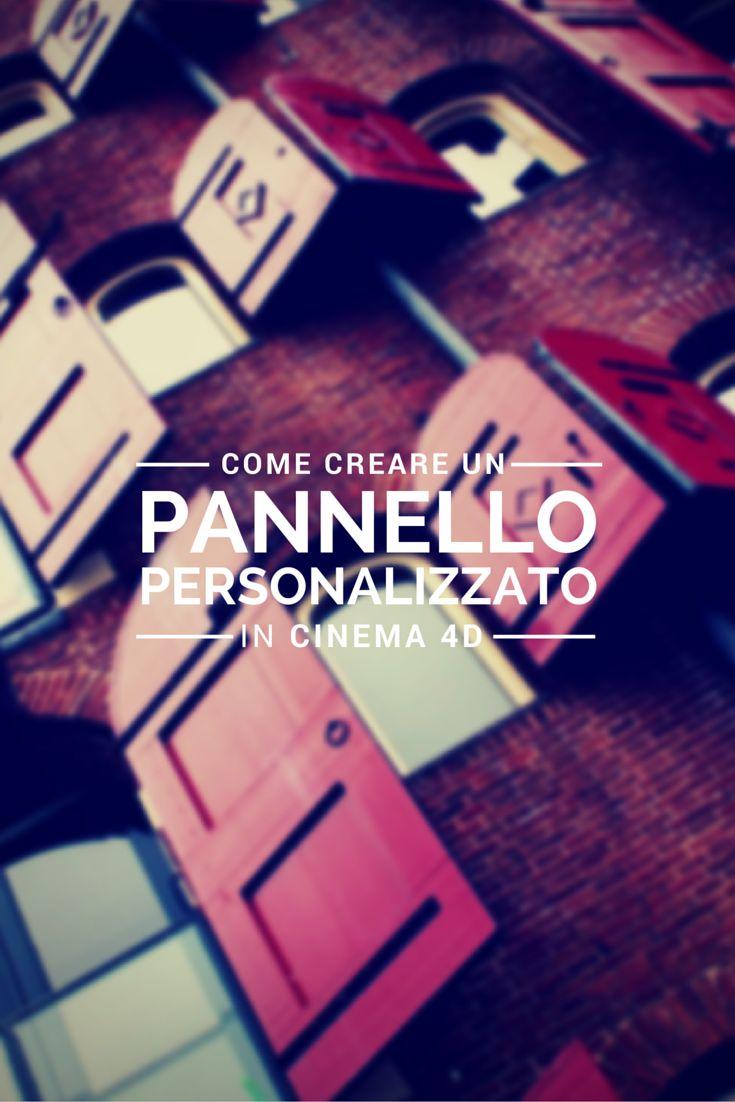 Impara come Carlo Macchiavello crea un pannello personalizzato in Cinema 4D. Clicca qui per iscriverti subito al corso Cinema4D da noi: http://www.espero.it/corsi-cinema-4d?utm_source=pinterest&utm_medium=pin&utm_campaign=3DArchitecture