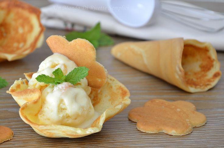 cialde per il gelato in padella