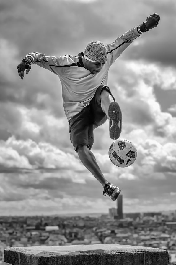 ★ Football Freestyle I by Arnaud Houllegatte, via 500px
