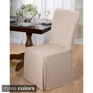 Instantly Add Flair And Style To Your Kitchen Or Dining Room With These Crisp Chair Covers Easy Care Machine Washable Cotton Slipcovers