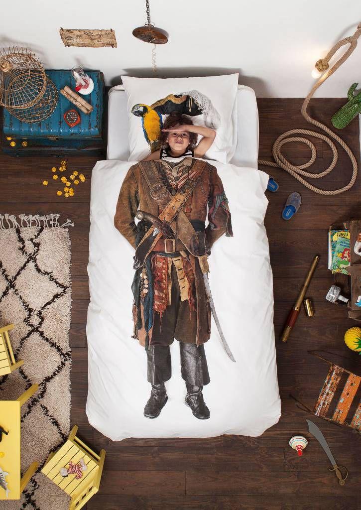 snurk-beddengoed-dekbedovertrek-piraat, dekbedovertrek piraat