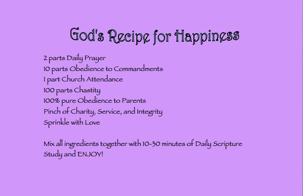 recipe for happiness - Google Search | Special Recipes 4 ...