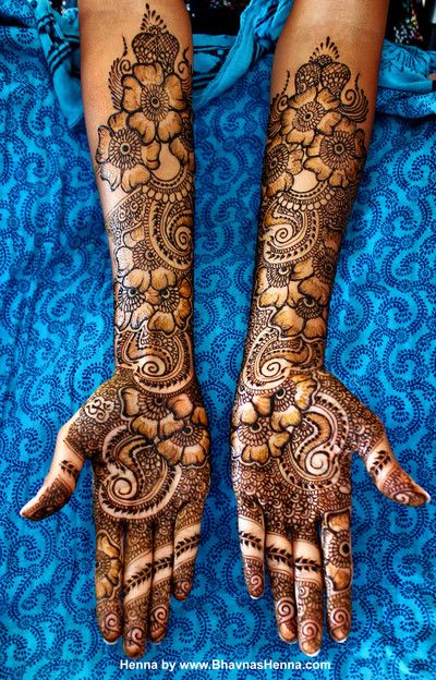 Bridal mehndi or henna designs.