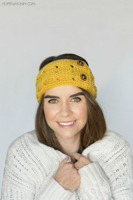Saffron Cable Headband - Crochet Pattern + Giveaway