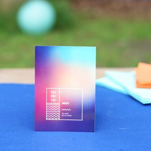 Menukaarten | Festival #tuinfeest #birthday #garden #party #verjaardag #menu #festival #summer #Beaublue