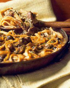 Mushroom linguini