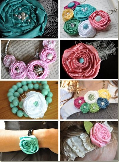 Various ways to use rolled rosettes