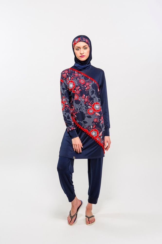 9d3f2aa8be Details about **** BURKINI RED FLOWER in 2019 | Burquini, burkini ( maillot  de bain pour femmes voilées) | Modest swimsuits, Swimwear, Red flowers