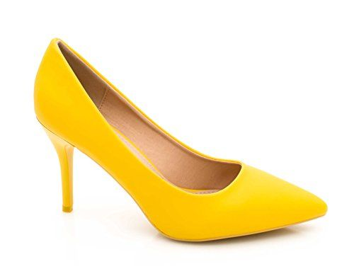 2baa41afd30a34 Fashion Shoes - Escarpin Femme Talon 9cm/Chaussures Escarpin uni Couleur/Escarpin  Femme pour Mariage et Cérémonie/Haut Talon Fin Très Chic et à la Mode (36  ...