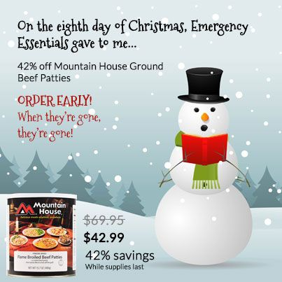 12 Days of Christmas-Day 8: Special Offer Sale on Mountain House Ground Beef Patties