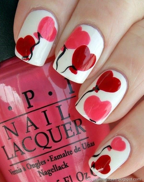 21 Preciosos Diseños de Uñas para San Valentín para difundir Amor - Manicure