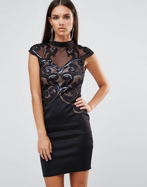 Lipsy Kleid mit Laser-Ausschnitt (79,95 €)