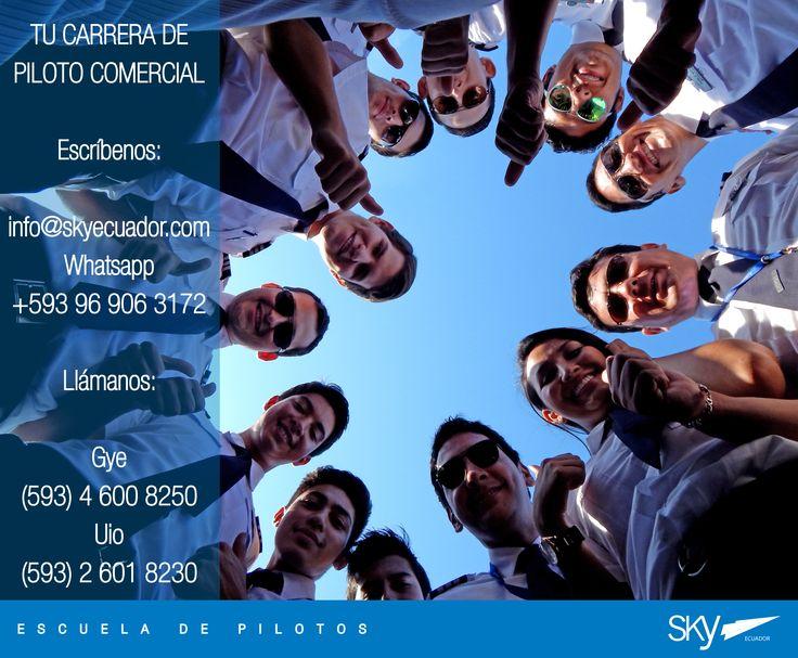 Más que #estudiantes, amigos compartiendo una misma pasión..... #volar !  Fórmate como Piloto Comercial en #Ecuador !  Siguiente curso:  #Quito - NOVIEMBRE  #Guayaquil - OCTUBRE   - Matrículas Abiertas.  Analiza nuestra experiencia, permisos, costos, nivel académico, flota, simuladores, facilidades, bases operativas, etc.  Para mayor información escríbenos a: info@skyecuador.com o mensajes WhatsApp 096 906 3172  Teléfonos:  02 601-8230 #Quito  04 600 8250 #Guayaquil