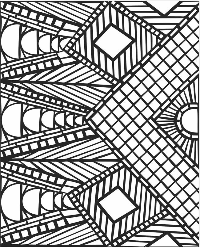 3d mosaic coloring page #free #printable #diy #craft