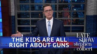 Stephen Colbert stands with the teens of Parkland, Florida in a powerful opening monologue - n Tuesday, February 20th, about 100 students from Parkland, Florida's Marjory Stoneman Douglas High School filed into busses and trekked to their state capitol. After losing 17 members of their high school community to a school shooter on February 14th, these students demanded that their lawmakers take action to limit access to guns and help save lives.  In his opening monologue that same day, Late…