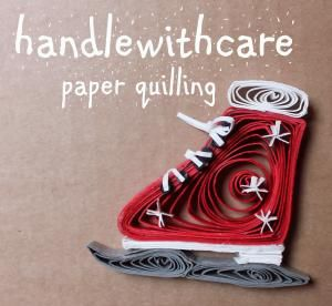 quilling christmas ice skate