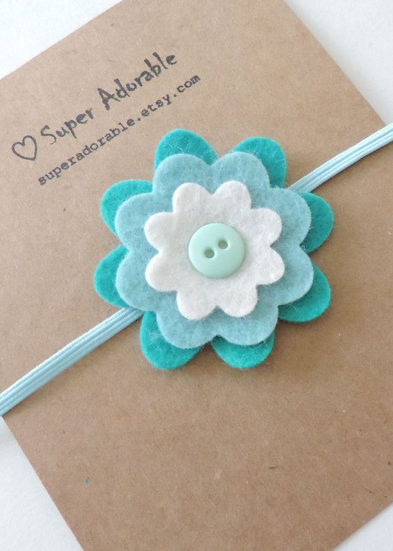 Felt Flower Headband - Baby Felt Headband, Toddler Headband, Girls Headband #design #aroundio