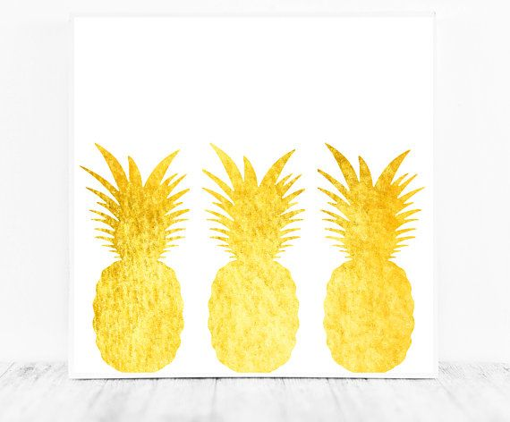 Pineapple Decor Pineapple Print Pineapple Printable