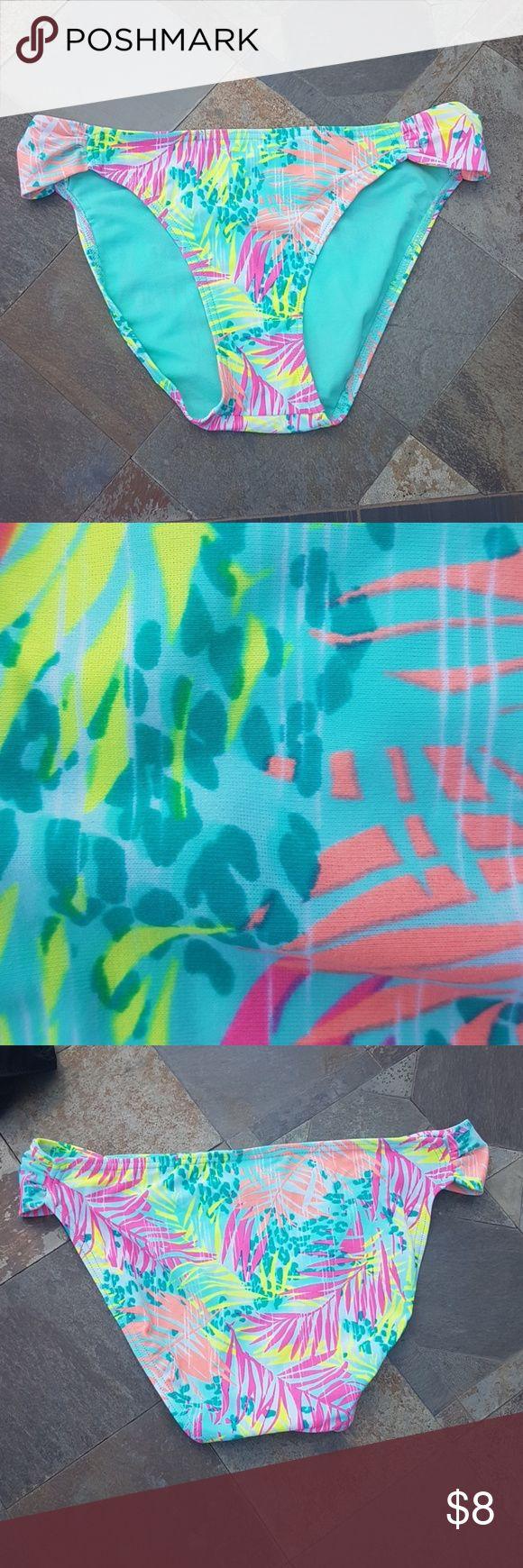 Tropical Neon Bikini Bottoms Great condition. Worn once. Swim Bikinis