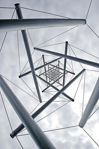 Kenneth Snelson | Needle Tower I need to investigate tensegrity further.  This is just one example (some origami relates to tenegrity structures).  There are boards too.