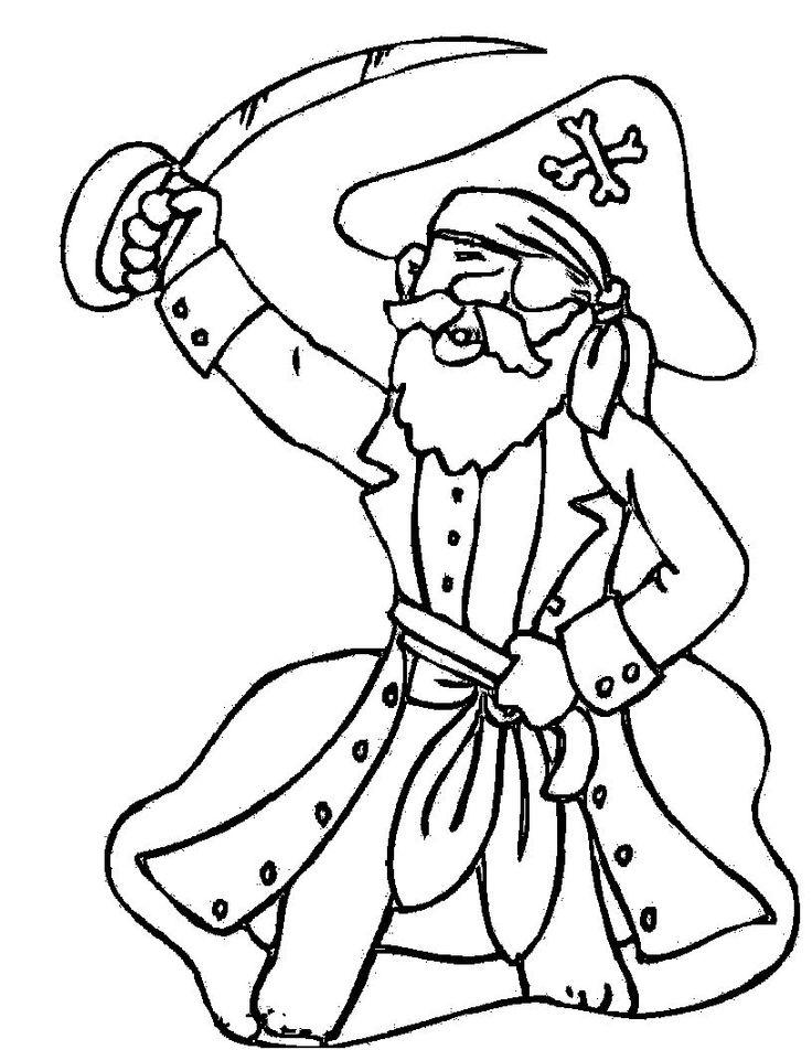 Pirates Lifting His Sword