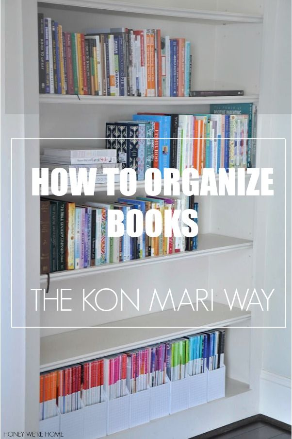 How to Organize Books using the Kon Mari Method