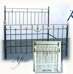 IRON BEDS - American Iron Bed Company - Authentic American Antique Cast Iron Bed Frames