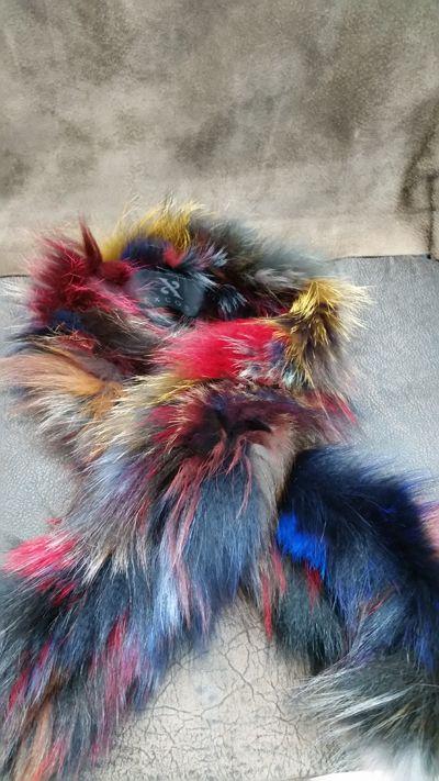 bufanda de piel de fox multicolor
