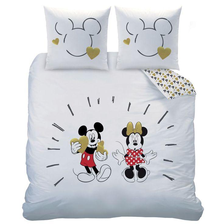 Parure de Lit Enfant Housse de Couette Disney Mickey Musique