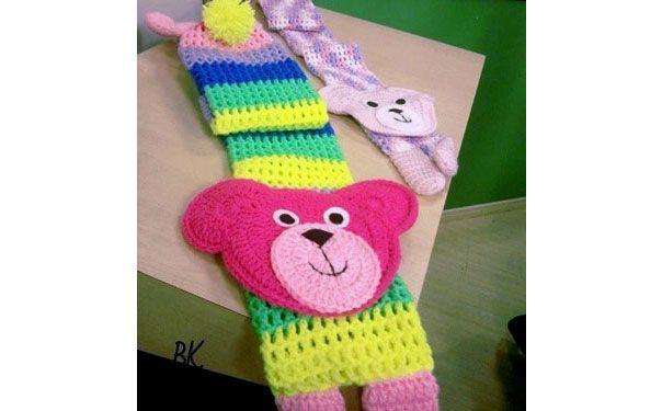 Детский шарф. Крючком. Схема