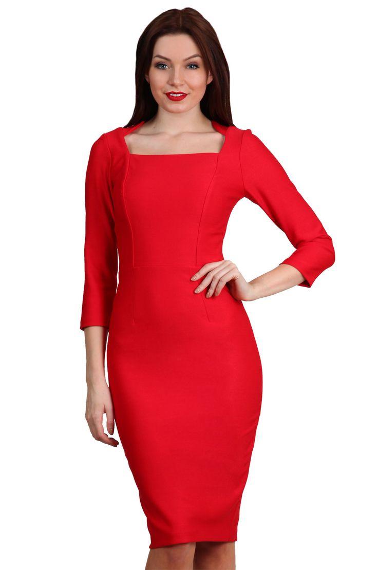 rowena dress, in red!