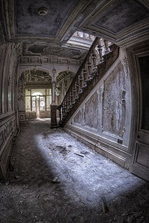 Inside of an abandoned Manor House by the Boatman by noplanplan