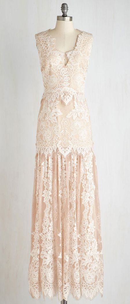 Night of a Lifetime Dress in Champagne