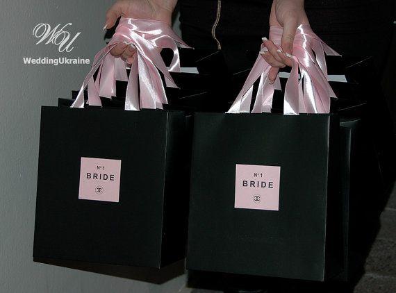 Chanel Theme Bridal shower favor bags  by WeddingUkraine on Etsy