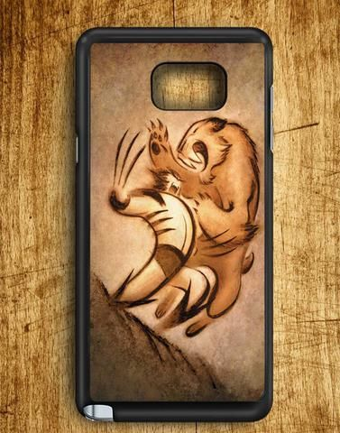 Wolverin Fight With Tiger Samsung Galaxy Note 5 Case