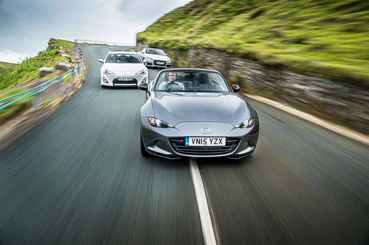 CAR magazine UK pits the new 2016 Mazda MX-5 against its affordable sports car rivals, Audi's TT and Toyota GT86