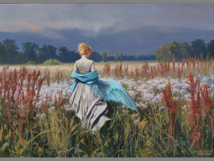 """Joanna Sierko-Filipowska; """"Birth of the autumnal angel""""   Oil on canvas   2008 rok"""