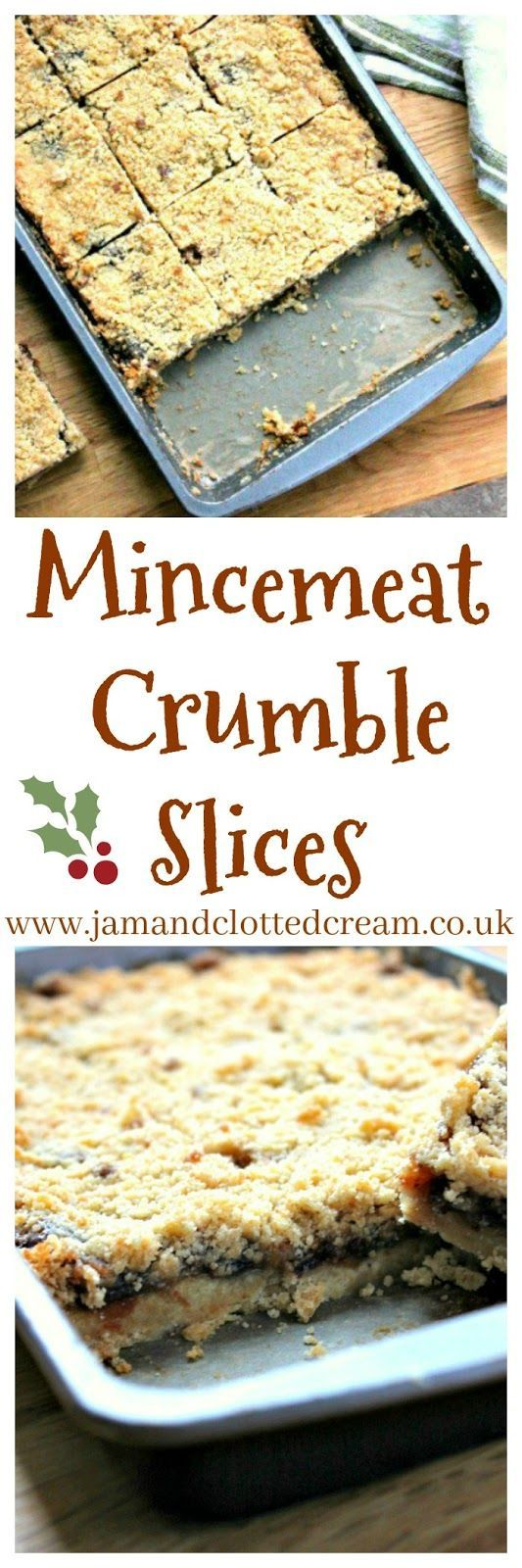 MINCEMEAT CRUMBLE SLICES - THE PERFECT ALTERNATIVE TO TRADITIONAL MINCE PIES
