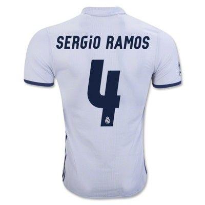 Real Madrid 16-17 Sergio Ramos 4 Hjemmebanetrøje Kortærmet.  http://www.fodboldsports.com/real-madrid-16-17-sergio-ramos-4-hjemmebanetroje-kortermet.  #fodboldtrøjer