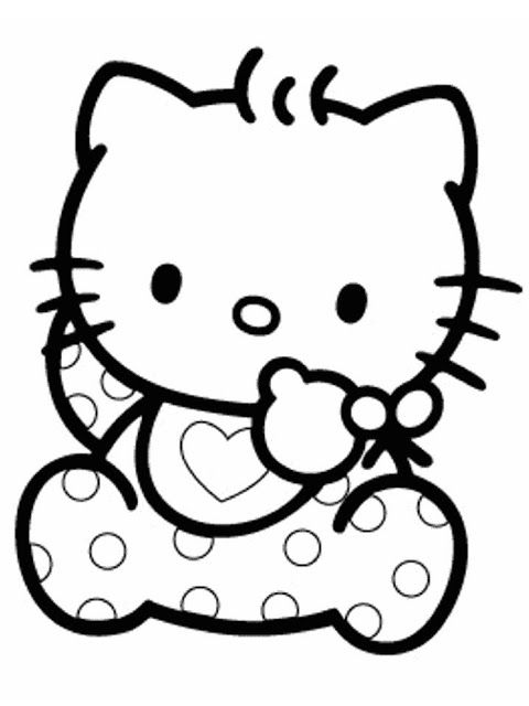 45 best coloriage hello kitty/ hello kitty kleurprenten