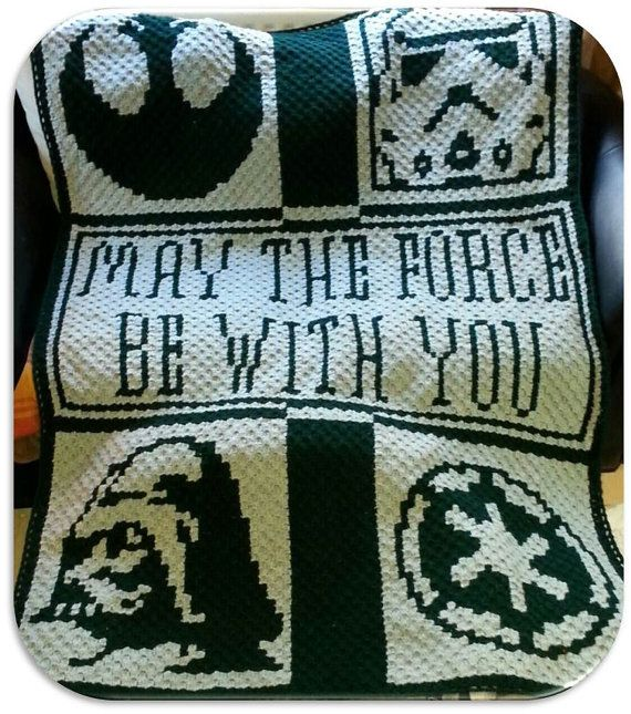 Crochet Pattern - Star Wars Throw for the ultimate fan in your life!