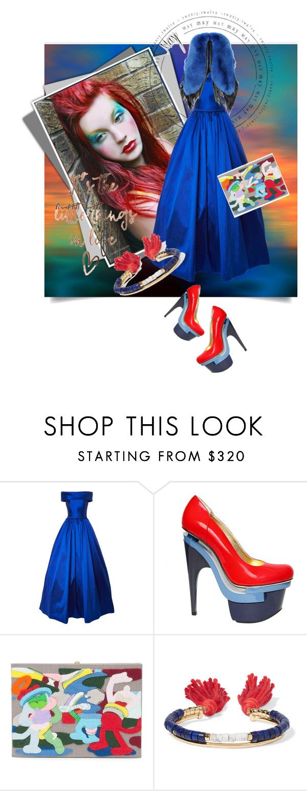 """""""COLORAMA"""" by kari-c ❤ liked on Polyvore featuring Versace, Olympia Le-Tan, Aurélie Bidermann and Fearfur"""
